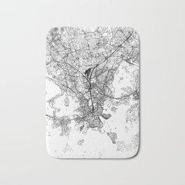 Helsinki White Map Bath Mat