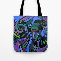 bugs Tote Bags featuring BUGS by Deyana Deco