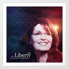 Sarah Palin Patriot Art Print