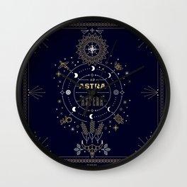 Ad Astra Per Aspera Wall Clock