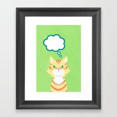 cat 2-British Shorthairs Framed Art Print