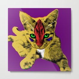 Loli Tweety Purple Metal Print