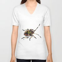 bug V-neck T-shirts featuring Bug by MSRomeiro