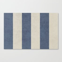 vintage dark blue stripes Canvas Print