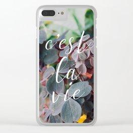 c'est la vie Clear iPhone Case