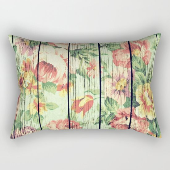 Flowers on Wood 05 Rectangular Pillow