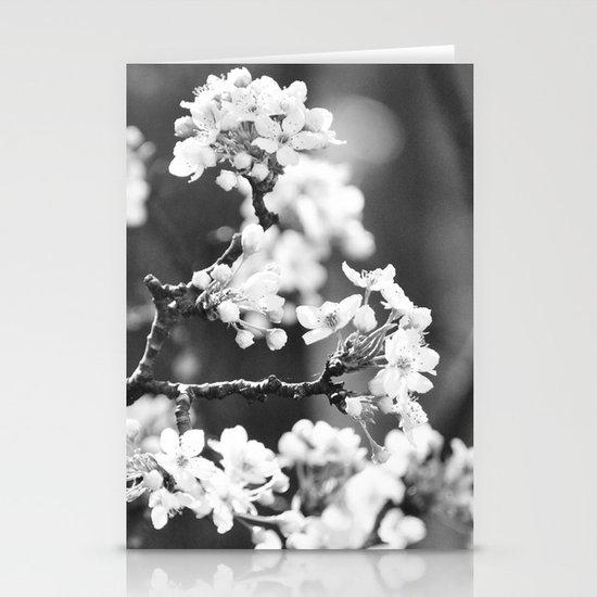 Pear Blossom B/W Stationery Cards