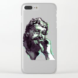 Bud Spencer and the cigar Clear iPhone Case