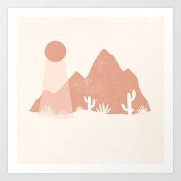 sonoran shapes Art Print