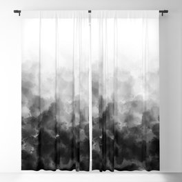 Ombre Smoke Clouds Minimal Blackout Curtain