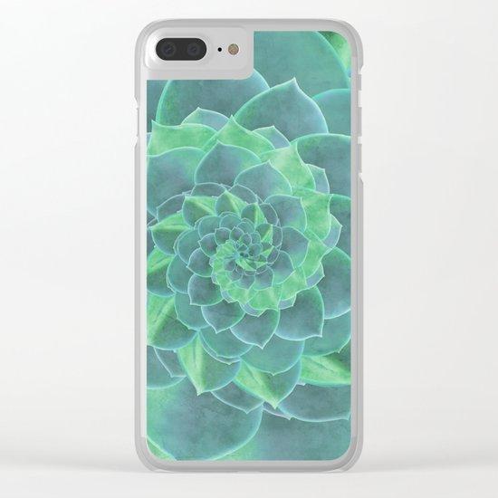 Succulent Rhapsody Clear iPhone Case
