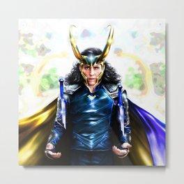 Loki - Ragnarok IV Blue Metal Print