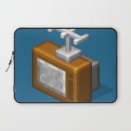 Retro TV television pixel art Laptop Sleeve