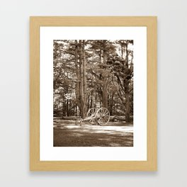 Cannon at Mabry Mill (Sepia) Framed Art Print
