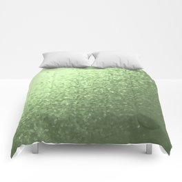 grenn, mintcollage of many small checks for a festive modern pattern Comforters