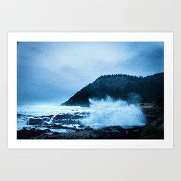 Turbulent Waters Art Print