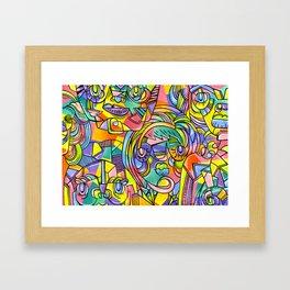 Colourful Faces Framed Art Print