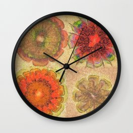 Nonpacificatory Structure Flowers  ID:16165-075207-87310 Wall Clock