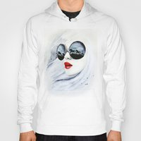 horses Hoodies featuring Wild Horses by anna hammer