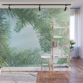 Nature photography tropical vibe vintage palm leaf II Wall Mural