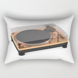 Golden Turntable Rectangular Pillow