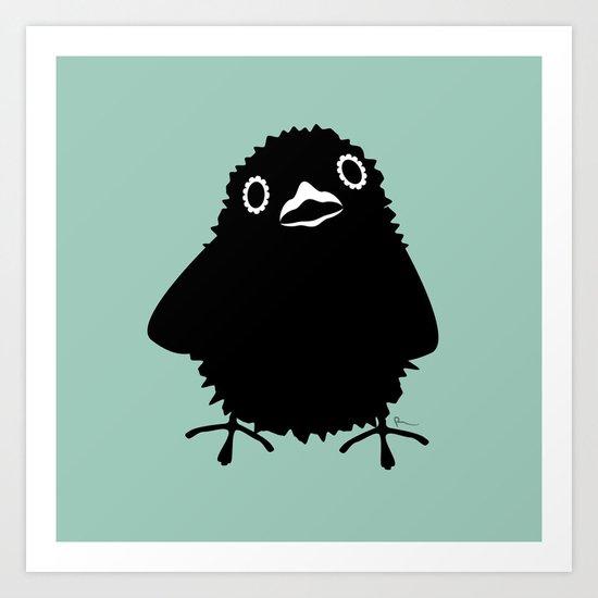 Baby Raven, Hi Art Print