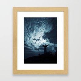 Crack of doom. Framed Art Print