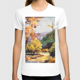 Fall Landscape Scene, Painting T-shirt