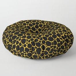 Mustard Yellow Black Turtle Shell Floor Pillow