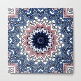 Kaleidoscope .Blue mist . Metal Print