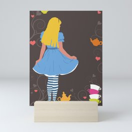 Alice in Wonderland tea party print Mini Art Print