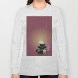 Pebbles with orchid Long Sleeve T-shirt