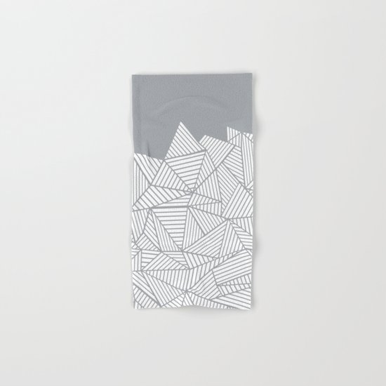 Abstract Mountain Grey Hand & Bath Towel