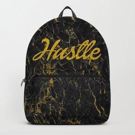 Gold Hustle Black Marble Backpack