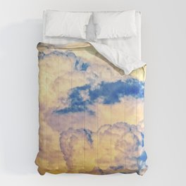 Layers Of Heavy Cumulus Clouds At Sunset Comforters