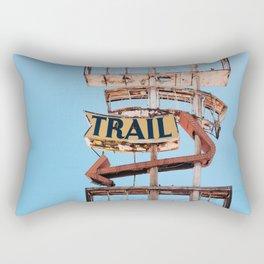 Vintage Neon Sign - The Spanish Trail -  Tucson Rectangular Pillow