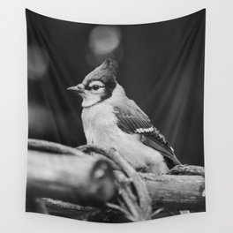The Bird (Black and White) Wall Tapestry