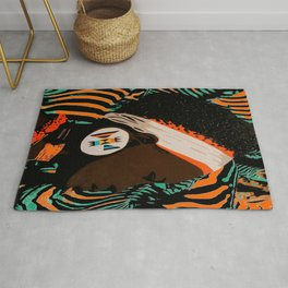 Zulu girl with zebraprint Rug