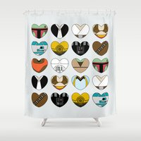 ewok Shower Curtains featuring Character Hearts by Hugh & West
