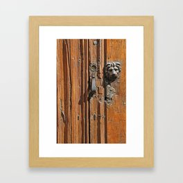 Lion Door Knocker Framed Art Print
