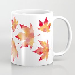 Maple leaves white Coffee Mug