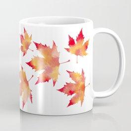 Maple leaves white Coffee Mug