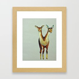 Deers Framed Art Print