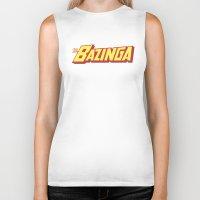 bazinga Biker Tanks featuring The Bazinga by thom2maro