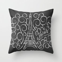 Paris Sketch Throw Pillow