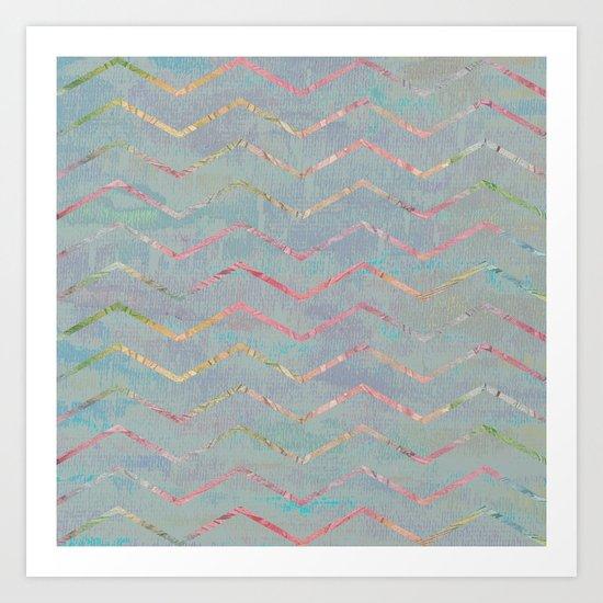 Chevron Rainbows Art Print