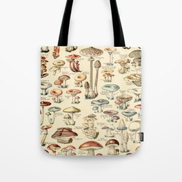 Trippy Vintage Mushroom Chart // Champignons by Adolphe Millot XL 19th Century Science Artwork Tote Bag