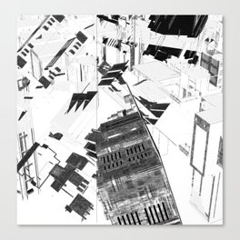 Chaos city Canvas Print