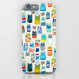 Lots of Watercolor Kitty Cats iPhone Case