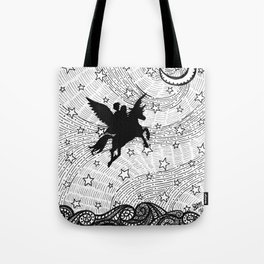 Flight of the alicorn Tote Bag